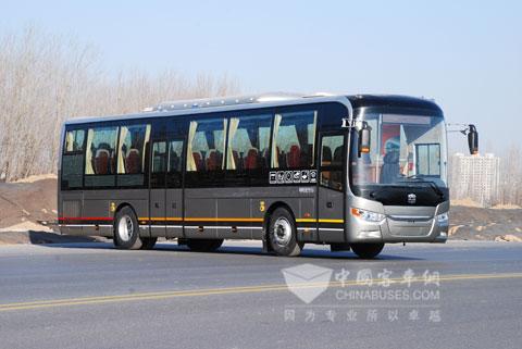 中通定制公交靓丽的外型