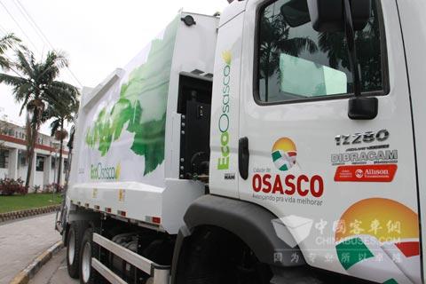 EcoOsasco车队配备的VW17.280型卡车全部装配艾里逊3000系列全自动变速箱