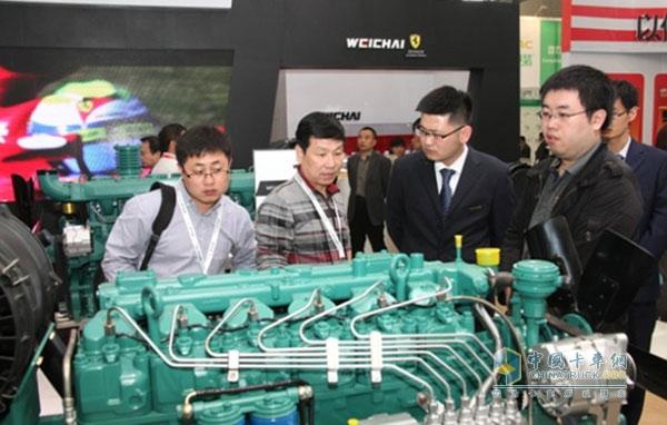 潍柴发动机亮相国际动力设备展