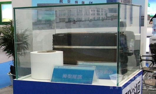 中航锂电在展会上展示的陶瓷隔膜