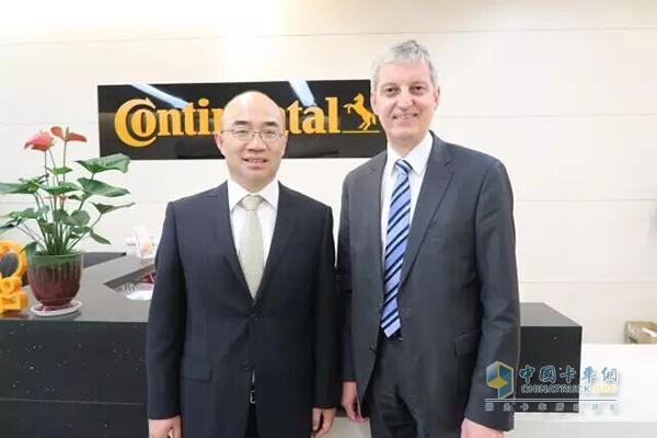 康迪泰克事业部总裁和中国区总裁合影