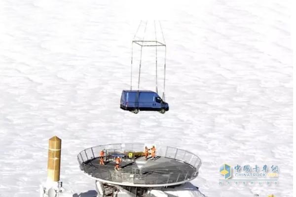 New Daily欧VI车型被放置到勃朗峰缆车最高点Helbronner峰顶
