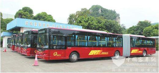 广西玉林:积极发展绿色交通,新能源公交车成城市风景线
