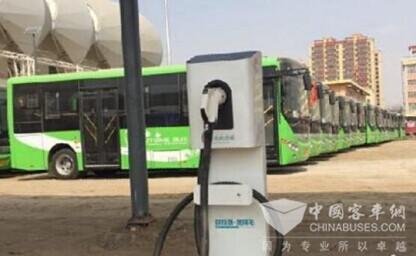 甘肃临泽:4辆新能源纯电动公交车投入使用