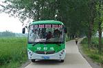 山西绛县:大山里迎来了新能源公交车