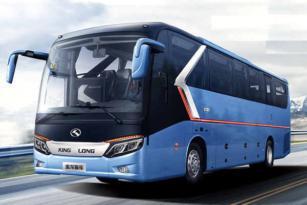 金龙龙威2代车型外观图-蓝色