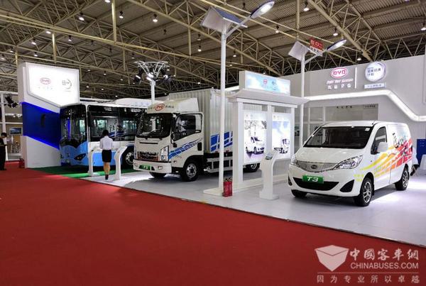 携精品之作而来  比亚迪商用车亮相国际电动车技术展