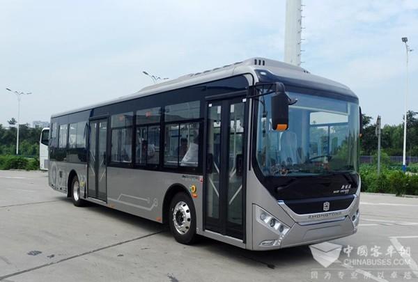 整车降重26%,中通客车12米镁合金电动公交成功下线