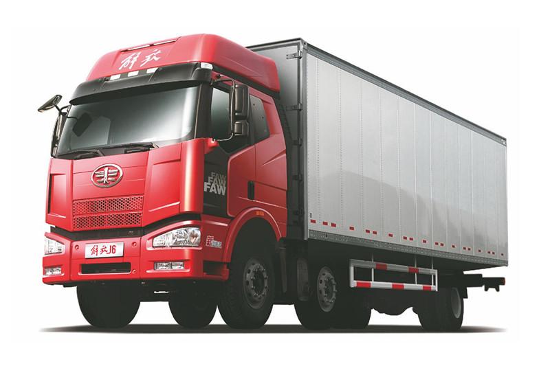 一汽解放 J6M准重卡 高效型 280马力 6X2 9.5米 国五厢式载货车(CA5200XXYP63K1L6T3E5)