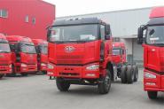 一汽解放 J6M准重卡 280马力 8X4 国四自卸车底盘(CA3310P63K2L1BT4E4)