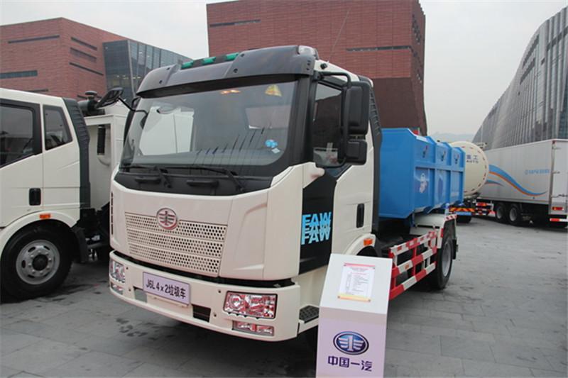 解放 J6L 160马力 4X2 国四厢式可卸式垃圾车(CA1160P62K1L4E)
