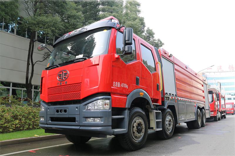 一汽解放 J6P重卡 420马力 8X4 国四水罐消防车(中卓时代牌)(ZXF5400GXFSG210/Y)
