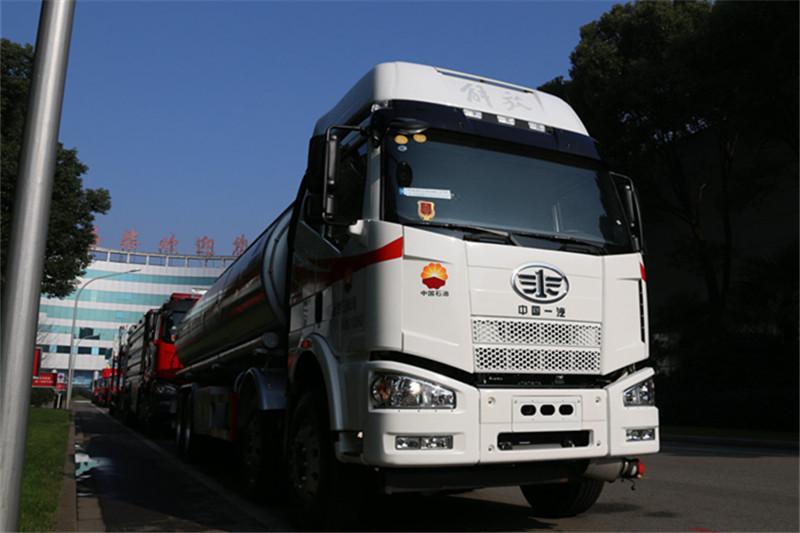 一汽解放 J6M重卡 280马力 8X4 国五运油车(陆平机器牌)(LPC5320GYYC5)