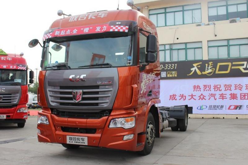 联合卡车 U系重卡 380马力 4X2 国五 中置轴列车底盘(QCC5182ZKXD651Z)