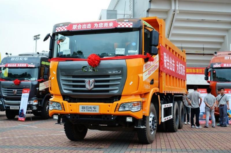 联合卡车U340 340马力 6X4 5.6米LNG 国四 自卸车(SQR3251D6T4-2)