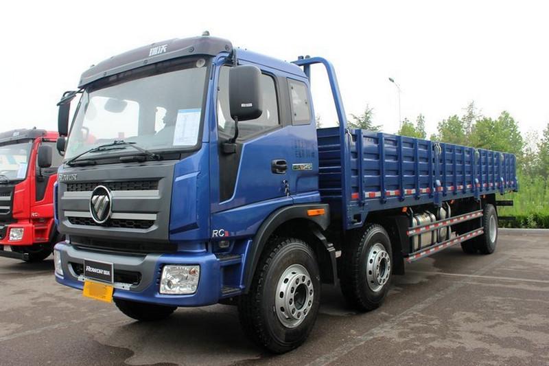 福田 瑞沃中卡 180马力 6X2 6.8米 国四 栏板载货车(BJ1255VNPHE-1)