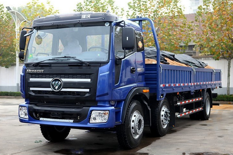 福田 瑞沃中卡 240马力 6X2 8.6米 国四 栏板载货车(BJ1255VNPHP-1)