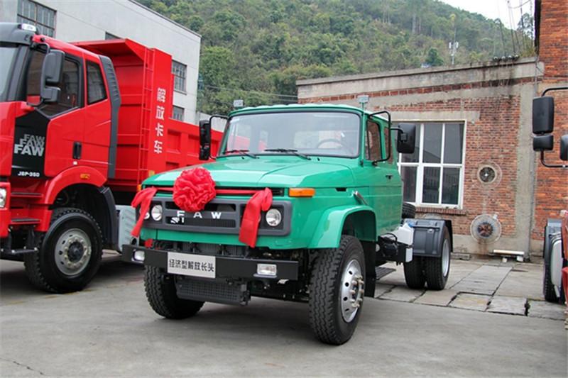 一汽解放柳特 经济型长头中卡 170马力 4X2 国五LNG牵引车(CA4141N2E5A95)
