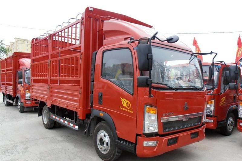 中国重汽HOWO 悍将 重载版 170马力 5.5米 4X2 国五单排仓栅式轻卡(ZZ5107CCYG421CE1)