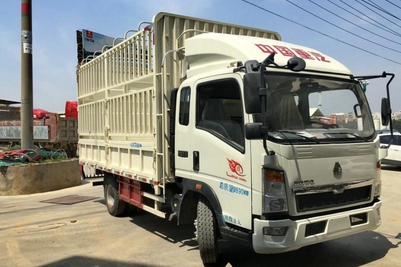 中国重汽HOWO 悍将 重载版 170马力 5.2米 4X2 国五排半仓栅式轻卡(ZZ5107CCYG421CE1)