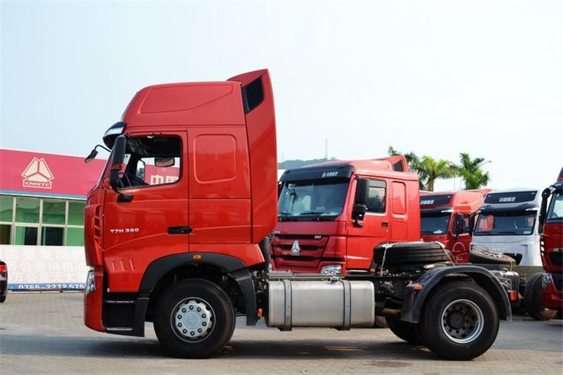 中国重汽 HOWO T7H重卡 400马力 4X2 国四危险品牵引车(ZZ4187V361HD1W)(高顶)