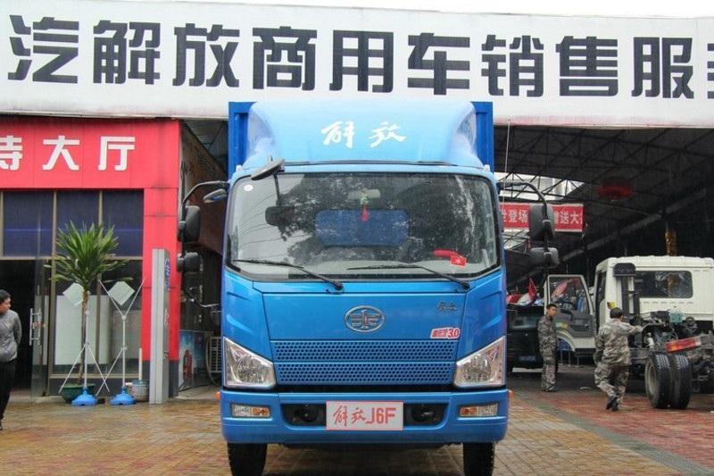 一汽解放轻卡 J6F 150马力 4X2 5.2米 国五单排厢式轻卡(CA5086XXYP40K2L3E5A84-3)
