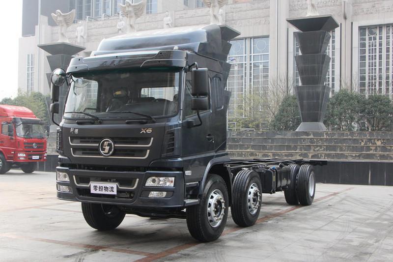 陕汽商用车 轩德X6中卡 轻量化版 240马力 6X2 8.6米 国五 厢式载货车(SX5254XXYGP5)