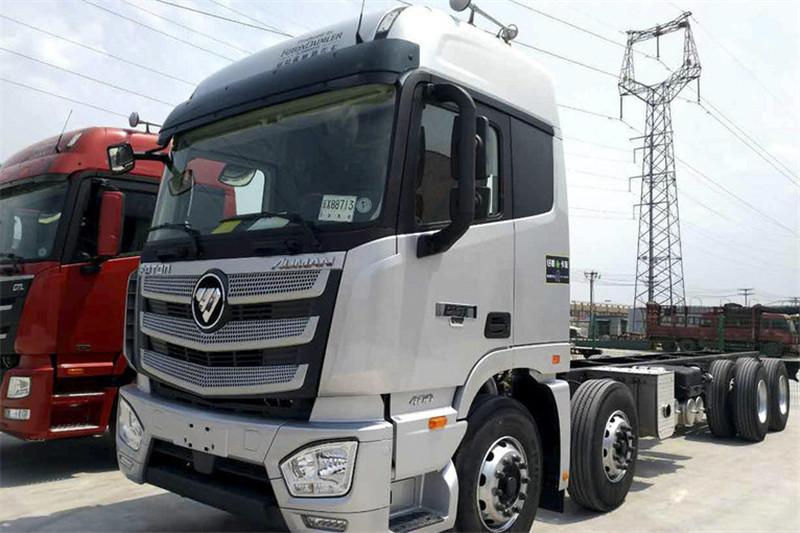 福田 欧曼EST 6系重卡 320马力 国五 8X4 9.38米冷藏车(3.7速比)(BJ5319XLC-AA)