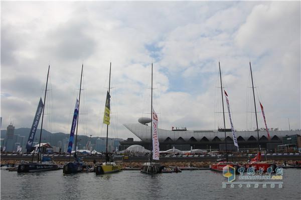 沃尔沃帆船赛活动现场
